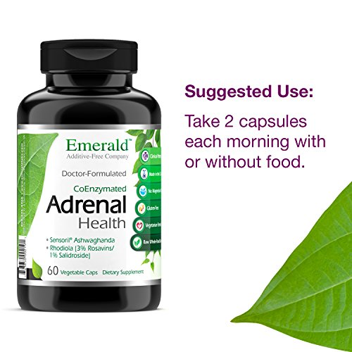 Adrenal Health - with Sensoril Ashwagandha for Improved Energy Levels, Sleep Support, Stress Relief, Promotes Mental Clarity - Emerald Laboratories - 60 Vegetable Capsules by Emerald Laboratories (Image #8)