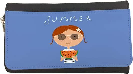 محفظة مصنوعة من الجلد بطبعة فصل الصيف