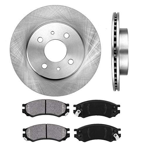 FRONT 250.4 mm Premium OE 4 Lug [2] Brake Disc Rotors + [4] Metallic Brake - Saturn Sl2 Brakes