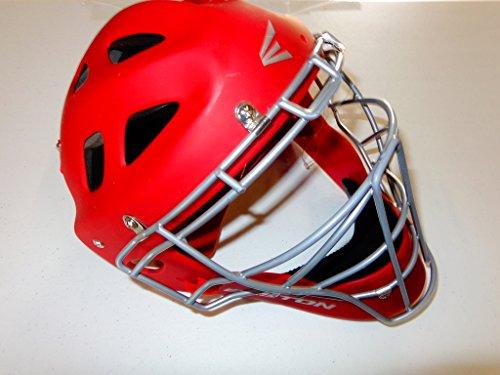 Easton Stealth Catchers Helmet - Easton Stealth Catcher's Helmet (Red, Large)