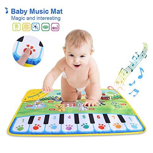 Bebé Música Dibujos Animados Estera, Niñito Bebé Juego Almohadilla Piano Alfombra con 5 Modos Musicales Juguete Educativo...