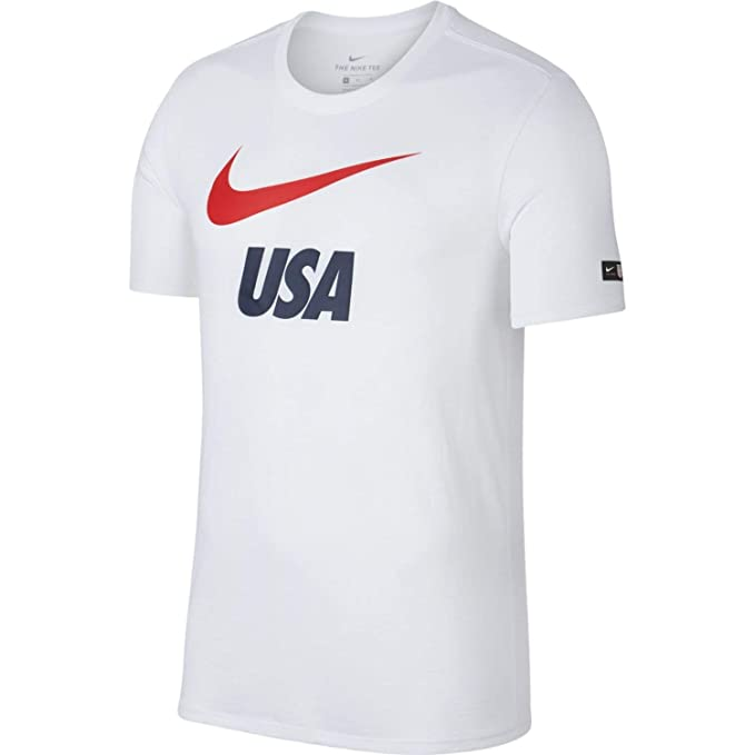770227ec Nike Mens Team USA Soccer Dri Fit Wold Cup Short Sleeve T-Shirt White 888885