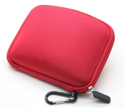 JNTworld Red 5 inch Hard Carrying Case for