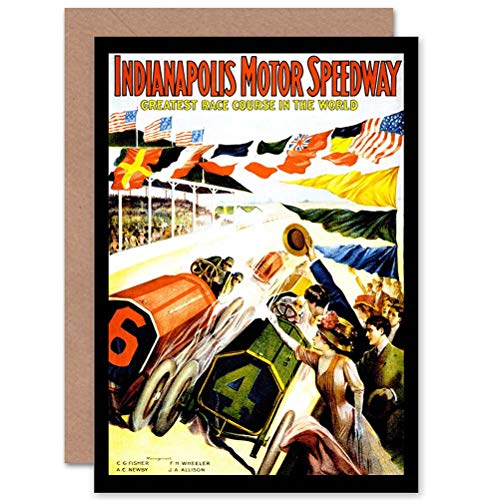 Wee Blue Coo Sport Exhibition Race Indianapolis Motor Speedway INDY 500 Greeting Card