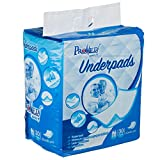 "Promed Supply Disposable Underpads Chux Premium Heavy Duty Water Proof Incontinence Pads Blue 80 gram, 8 gram SAP, Approx 23""x36"" 30 count"