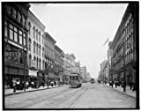 Photo: Summit Street,commercial facilities,buildings,railroads,Toledo,Ohio,OH,c1900