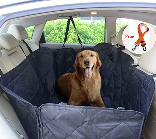 (FLR Pet Seat Cover for Large Dogs Breeds Waterproof Washable Nonslip Scratch Proof Rear Back Car Seat Covers Pets Seat Protectors Mat Hammock for Car Trucks SUVs Vans & Vehicles-Universal Fit)