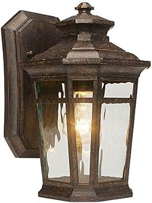 Home Decorators Collection Waterton 1 Light Outdoor Dark Ridge Bronze Wall Lantern Amazon Com