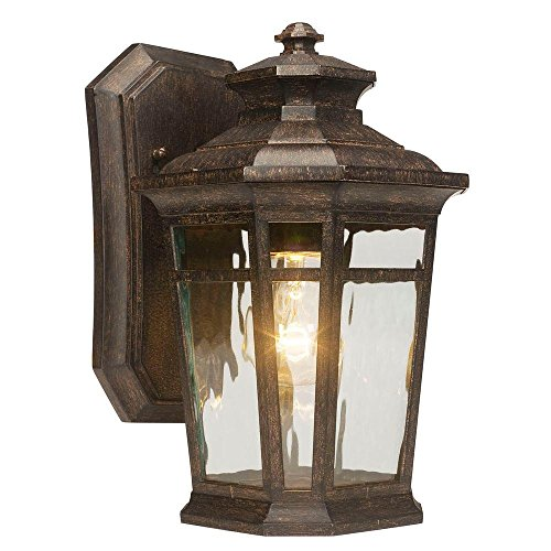 (Home Decorators Collection Waterton 1-light Outdoor Dark Ridge Bronze Wall Lantern )