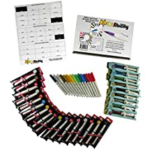KitAbility Glitter and Gold 40 Color Brush and Marker Set