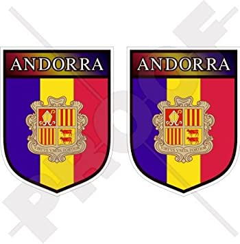 """andorran Shield Andorra La Vella 75 mm (3 """") carcasa de vinilo pegatinas"""