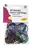 Charles Leonard Loose Leaf Rings, 1' Diameter, Metallic Assorted Colors, 50 per Bag, 1 Bag (85000)