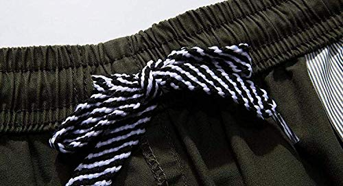 Verano Colores Trabajo Elástica Cintura Armygreen Ropa Sólidos Festiva Para Pantalones Playa Cortos Algodón Ocio De Elásticos Sueltos Hombres t17q4waF