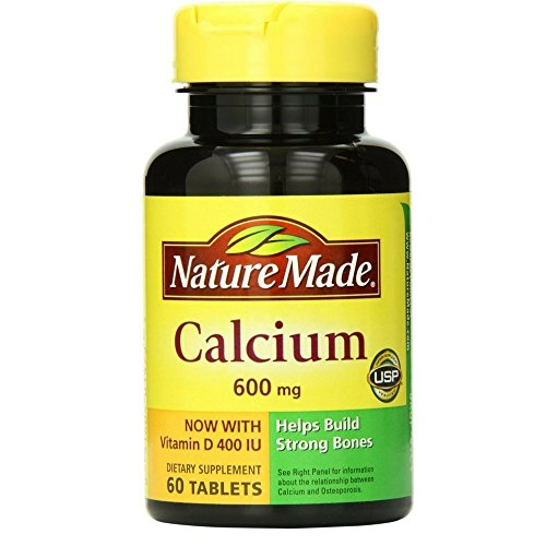 Nature Made Calcium with Vitamin D3 600mg, 60 Tablets For Sale