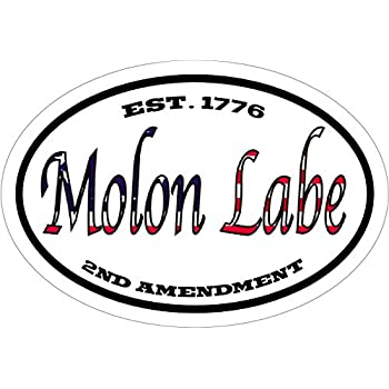 Molon labe decal american flag est 1776 2nd amendment molon labe vinyl sticker