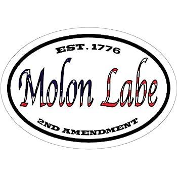 Molon labe decal american flag est 1776 2nd amendment molon labe vinyl sticker