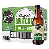 Remedy Raw Organic Switchel - Sparkling Live Cultured Drink - Sugar Free Finger Lime - 12 330ml Bottle Case