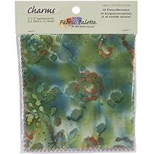 "Fabric Editions Fabric Palette Charm Pack 5""X5"" Cuts 20/Pkg-Long Road Batik"