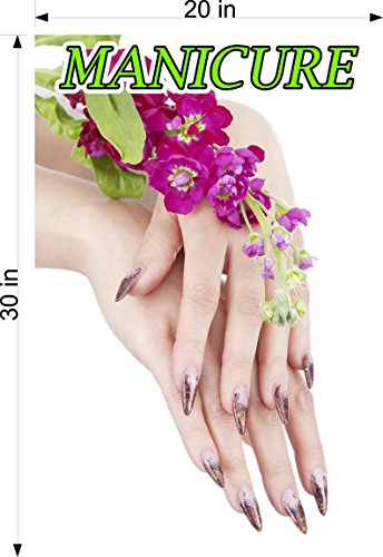 Cmyads.net Manicure II Line Pattern WGLV See-Through Window Graphic Vinyl Pinstripe Sign Tint-Like Salon Nails Poster Hand 70/30 Vertical (30