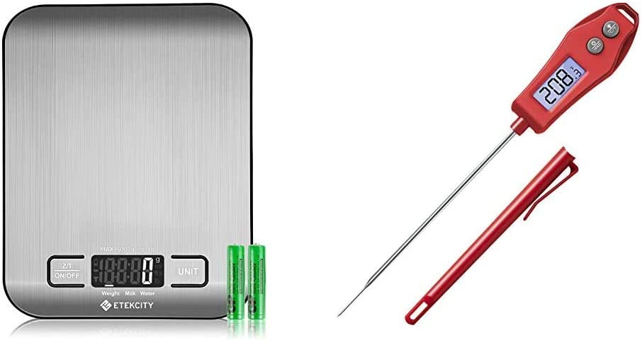 Etekcity Small Food Scale and Red Meat Thermometer