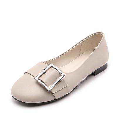 pour Ronde à ZFNYY Chaussures Talons Plate Tête Chaussures Femmes J1F3lKcTu
