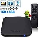 Android TV Box, Android 7.1.2 Newest M8S PLUS W Mini 1GB/8GB Amlogic S905W Quad core 64 Bits 2.4G Wifi Ultra HD 4K Smart TV Box