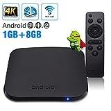 Android TV Box, Android 7.1 TV Box Newest M8S Plus W 1GB/8GB Amlogic S905W Quad Core 64 Bits WiFi Smart 4K HDMI TV Box