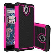 OnePlus 3 Case, NOKEA [Shock Absorption] Hybrid Armor Defender Protective Slim & Flexible Anti-shock Crystal Silicone Protective Case Cover for OnePlus 3 (Rose)