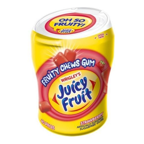 Juicy Fruit Strawberry Fruity Chews Sugar Free Gum, 40 pieces per pack -- 24 per case. by Juicy Fruit