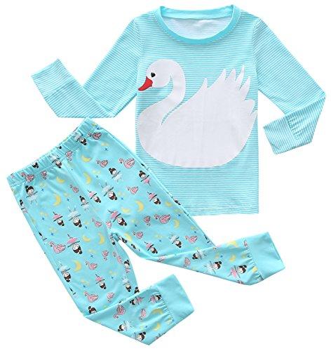 Fiream Girls Pajamas Sets 2 Piece Cotton Animal Toddler Sleepwears