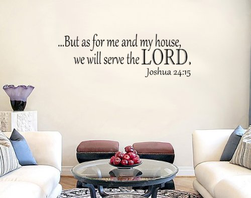 Joshua 24:15 KJV Bible Verse Vinyl Wall Decal Sticker Art (9