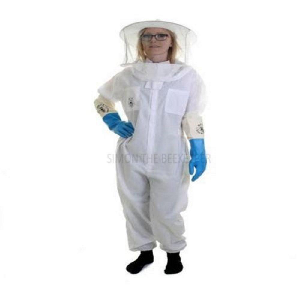 Traje de apicultor Beekeeper básico con velo redonde y guantes de látex
