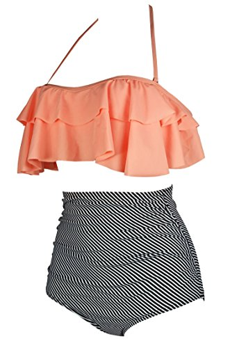 Buy bathing suit high waist shorts women