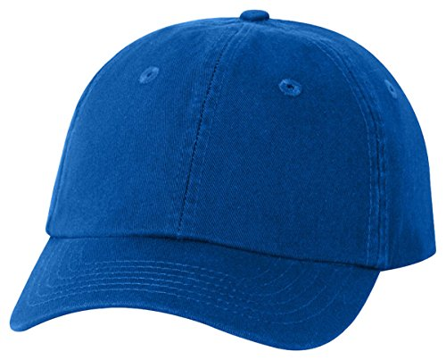 Profile Chino Twill Cap (Valucap Youth Bio-Washed Unstructured Cap, Royal, ADJ)