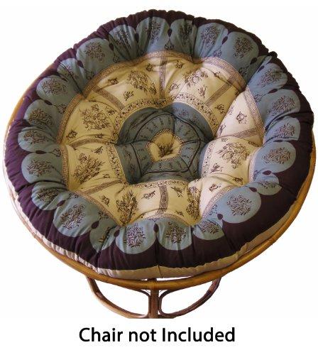 ffed Round Papasan Cushion, Floral Chocolate (Floral Cushion)