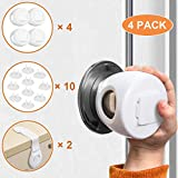 Door Knob Safety Covers - 4 Pack Lockable Design Child Proof Door Knob Covers & 10PCS Outlet Covers - Universal Size