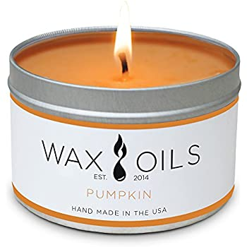 Wax and Oils Soy Wax Aromatherapy Scented Candles, Pumpkin, 8 oz