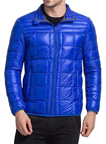 Blue Custom Fashion Royal Fit Jacket Down Men's EKU Warm US Coat Puffer S p6Ew77