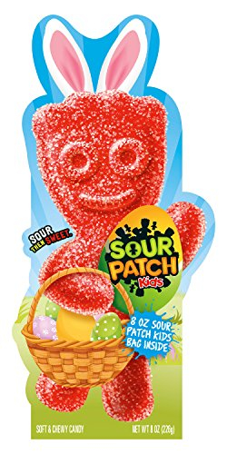 Sour Patch Kids Soft & Chewy Candy Easter Basket Centerpiece, 6 Count