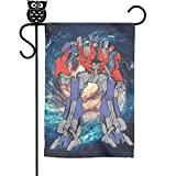FLYYYY Vintage Retro Robot Gift Garden Flag-Single Sided Polyester Decorative Flags Weather...