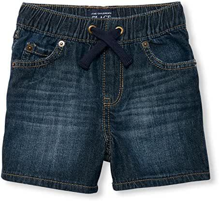 The Children's Place Boys' Pull on Dnm Shor, Indigonite, 12-18MOS
