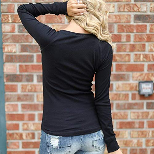 Casuale Donne Autunno Camicette Bluse Moda Elegante Monocromo qualit Button Fit Alto Neck Primaverile Pullover di Slim V Lunga Donna in Manica Alta Battercake txgwY7Pqx