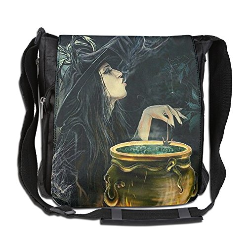 HUE FIUB Classic Evil Witch Messenger Bag Shoulder Bag Outdoor Sports Crossbody Bag Side Bag For Men Women