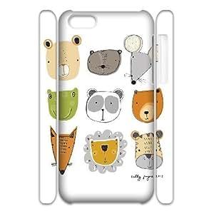 3D Doah Faces IPhone 5C Cases, [White]