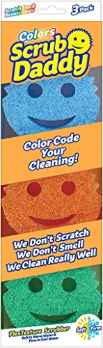 Scrub Daddy - Sponge/Scrubber Colors - 3 Pack, 9 - Face Glasses On Test My