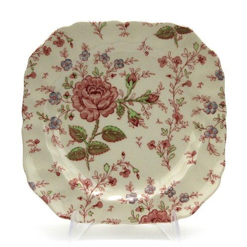 Rose Chintz by Johnson Bros., China Square Salad Plate