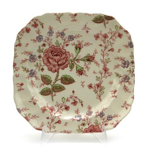 Johnson Brothers Rose Chintz - Rose Chintz by Johnson Bros., China Square Salad Plate