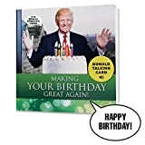 NEW Talking Trump Birthday Card - Wishes You A Happy Birthday In Donald Trump's REAL Voice - Surprise Someone With A Personal Birthday Greeting From The President Of The United States - With Envelope