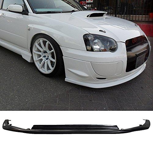 Front Bumper Lip Fits 2004-2005 Subaru Impreza WRX STI | PU Black Front Lip Spoiler Splitter by IKON MOTORSPORTS ()