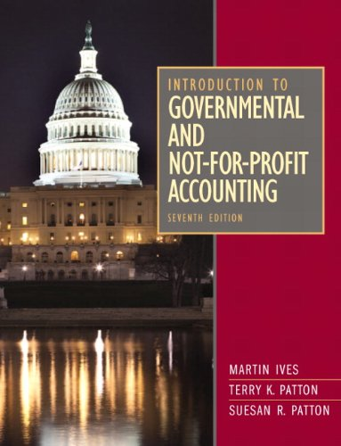 Pdf Business Introduction to Governmental and Not-for-Profit Accounting (7th Edition)
